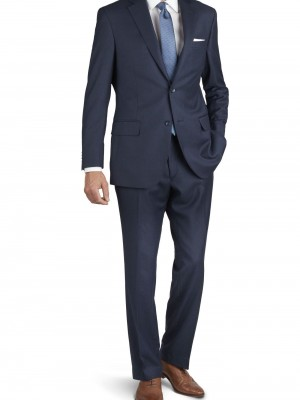 Abito business Tuscany blu tinta unita vestibilit_ regolare