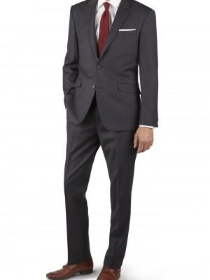 Abito business Tuscany grigio scuro tinta unita vestibilit_ regolare