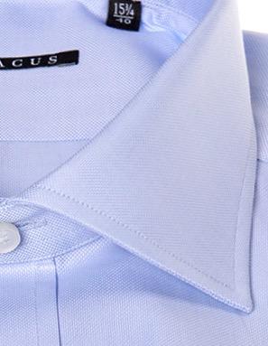 design senza tempo aa6bc a4ee1 Camicia sartoriale Xacus tessuto oxford collo mezzo francese vestibilit_  normale