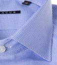 Camicia sartoriale Xacus slim tessuto micro quadretto collo mezzo francesce