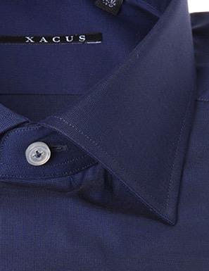 Camicia sartoriale Xacus tessuto liscio collo italiano vestibilitš normale