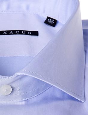 Camicia sartoriale Xacus extra slim tessuto liscio collo mezzo francesce