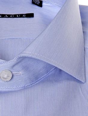 Camicia sartoriale Xacus extra slim tessuto mille righe collo mezzo francesce