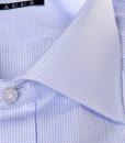 Camicia sartoriale Xacus micro quadretto collo mezzo francese vestibilitš normale
