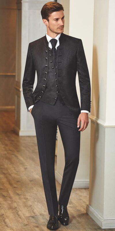 21490c01e93a Abito nero damascato uomo – Abiti alla moda