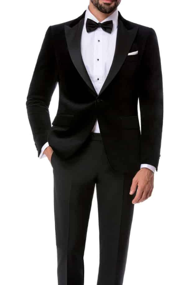 best website 225df c55f3 Smoking su ordinazione giacca in velluto duca Visconti Modrone